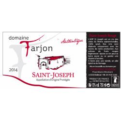 SAINT JOSEPH ROUGE DOMAINE THIERRY FARJON - AUTHENTIQUE 2017